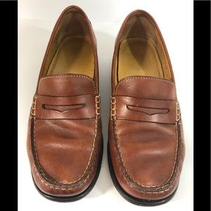 Cole Haan Slip On Shoes Tan Brown Leather Loafers